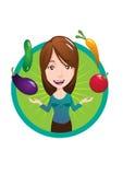 Madame Vector de Vegan Photos stock
