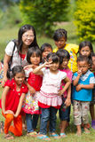Madan children on the island. Medan Indonesia , April 13 ,2014 :Medan children on the island Royalty Free Stock Image