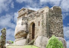 Ancient Madan Mahal, a view towards east, Jabalpur, India. Madan Mahal Fort situated on a top of a hill dates back to 11th century AD Royalty Free Stock Photography
