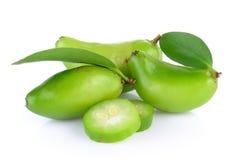 Madan tropical thai fruit. On white background Royalty Free Stock Photo