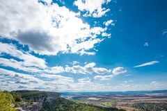 """The Madara national historical archeological reserve. The national historical-archeological reserve """"Madara"""" is located 17 km northeast of Shumen, 2 stock photography"""