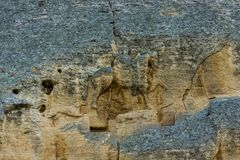 Madara Rider Horseman. Madara Rider - an archaeological monument of the early Middle Ages the end of the 7th century, a relief image of a rider carved on a steep Stock Photography