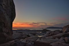 Maddalena-Insel lizenzfreie stockbilder