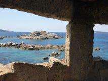 Maddalena-Insel in der Sommerzeit lizenzfreie stockfotos