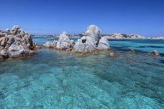 Maddalena Islands - Sardinia - Italien arkivbild
