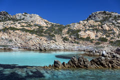 Maddalena Islands - Sardinia - Italy. The Maddalena Archipelago - a group of islands in the Straits of Bonifacio between Corsica France and north-eastern Stock Photos