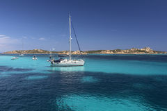 Maddalena Islands - Sardinia - Italy. The Maddalena Archipelago - a group of islands in the Straits of Bonifacio between Corsica France and north-eastern Royalty Free Stock Photo