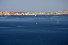 Maddalena-Stadt Stockfoto