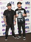 The Madden Brothers Perform at Q102 in Bala Cynwyd, PA, USA Royalty Free Stock Photo