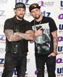 The Madden Brothers Perform at Q102 in Bala Cynwyd, PA, USA Royalty Free Stock Images