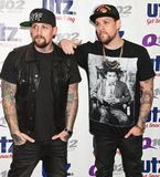 The Madden Brothers Perform at Q102 in Bala Cynwyd, PA, USA stock photo