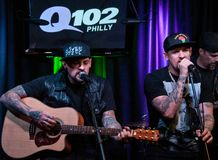 The Madden Brothers Perform at Q102 in Bala Cynwyd, PA, USA Royalty Free Stock Photos