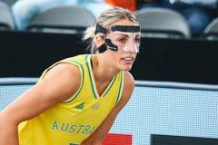 Maddie Garrick durante la coppa del Mondo di pallacanestro 3x3 fotografia stock libera da diritti