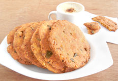 Maddur Vada Indian Snack stock photography