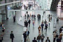 Made商展的人们2013年在米兰,意大利 库存照片