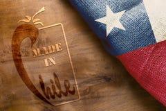 Made的工业标志在智利 免版税库存图片