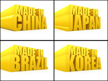 Made in. 3d concept isolated on white Royalty Free Stock Images