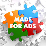 Made for ADS on Multicolor Puzzle. Stock Photography