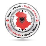 Made in Albania, Premium Quality - shiny elegant button Royalty Free Stock Image