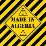 Made in Algeria. The industrial symbol is made in Algeria Royalty Free Stock Image