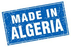 Made in Algeria stamp. Made in Algeria square stamp isolated on white background Royalty Free Stock Images