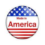 Made in the America button Stock Images