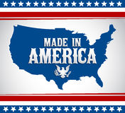 Made in America emblem with map - Vector illustration Stock Image
