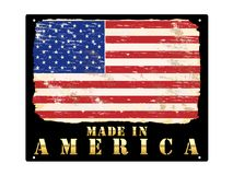 Made In America Gold Sign Royalty Free Stock Images