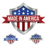 Made in America Icons Royalty Free Stock Photography