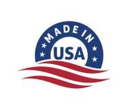 made in america logo design stock illustration