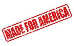 MADE FOR AMERICA red stamp text Stock Photography
