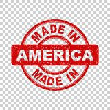 Made in America red stamp. Stock Photo