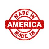 Made in America red stamp. Stock Photography