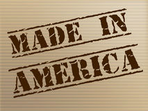 Made In America Represents The United States And Americas Royalty Free Stock Photo