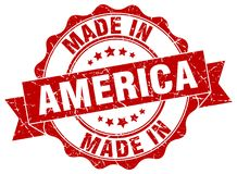 Made in America seal Royalty Free Stock Image