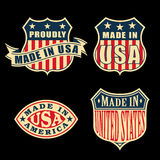 Made in America. Set of badges and labels. Additional format - Adobe Illustrator 10, CMYK Royalty Free Stock Photo