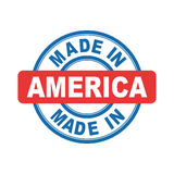 Made in America. Vector emblem flat Royalty Free Stock Images