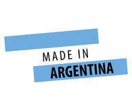 Made in Argentina Flag Design. Royalty Free Stock Image