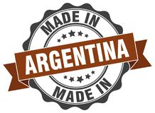 Made in Argentina seal. Made in Argentina round vintage seal Stock Image
