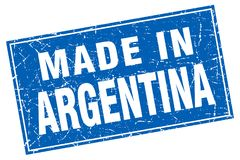 made in Argentina stamp royalty free illustration