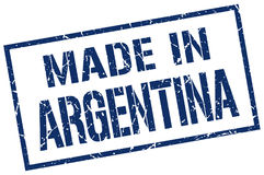 Made in Argentina stamp Royalty Free Stock Photo