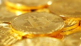 Made As Digital modelo real macro Cryptocurrency Bitcoin almacen de video