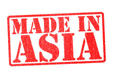 MADE IN ASIA Rubber Stamp Stock Photos