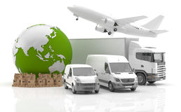 Made in Asia. Transportation. Vehicles for the transport of goods Stock Images