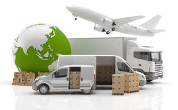 Made in Asia. Transportation. Vehicles for the transport of goods Stock Photography