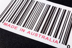 Made in Australia. And barcode, business concept Royalty Free Stock Images