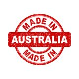 Made in Australia red stamp. Vector illustration on white background Royalty Free Stock Photography