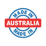 Made in Australia. Vector emblem flat Royalty Free Stock Image