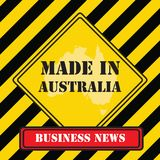 Made in Australia yellow symbol Stock Photography