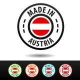 Made in Austria badges with Austria flag. Royalty Free Stock Photo